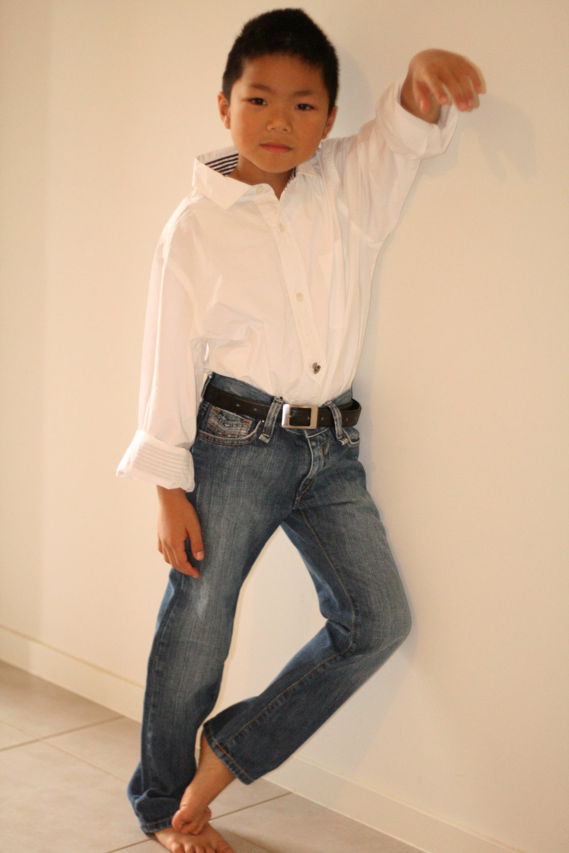 Replay & Sons - Boys White Shirt & Jeans(Sold Separately) | Product | Bon Bon Tresor