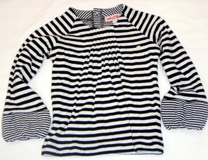Mirtillo - Girls Black and White Stripe Top | Tops & T-Shirts | Bon Bon Tresor