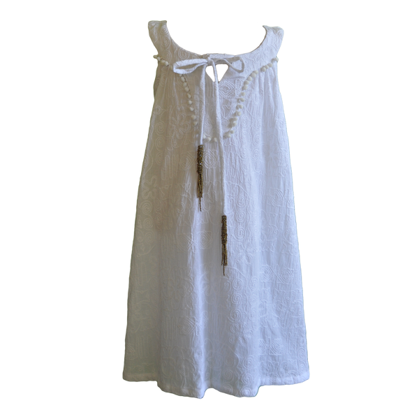 Willow and Finn - Girls White Embroidery Dress - Bon Bon Tresor