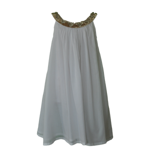 Willow and Finn - Girls White Gem Lucia Dress | Dresses & Skirts | Bon Bon Tresor
