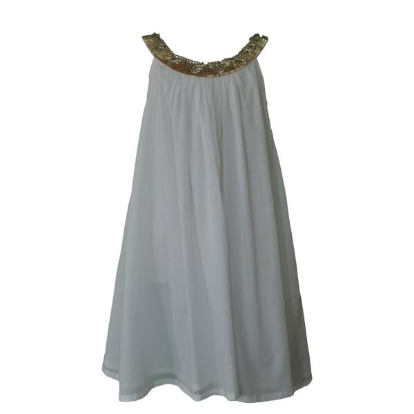 Willow and Finn - Girls White Gem Lucia Dress - Bon Bon Tresor