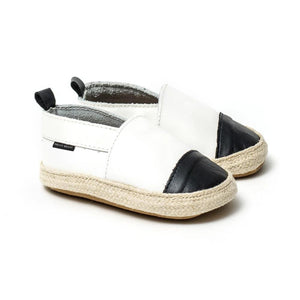 Pretty Brave - White With Black Toe Espadrille | Espadrilles | Bon Bon Tresor