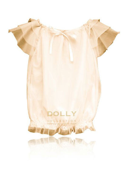 Dolly Le Petit Tom - Girls Cream Chiffon Top - Bon Bon Tresor - 1