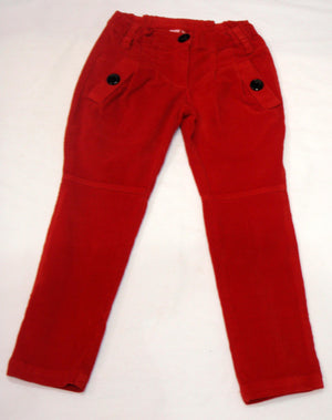 Mirtillo - Girls Corduory Red Trousers | Pants & Shorts | Bon Bon Tresor
