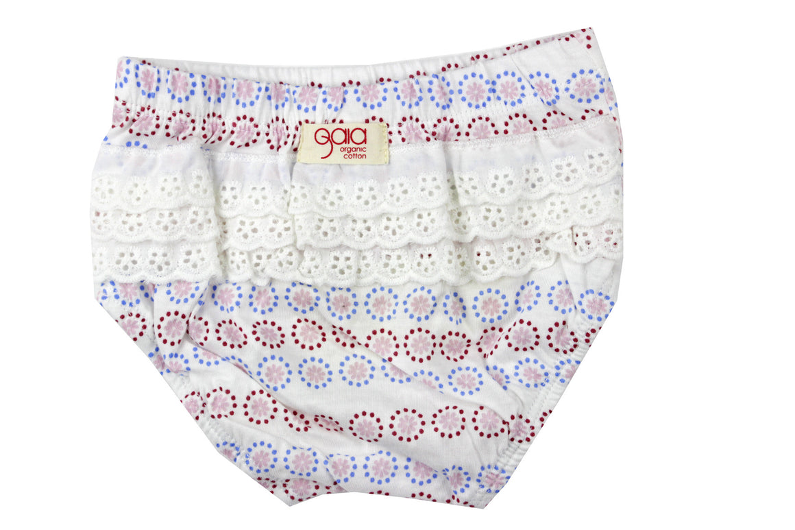 Gaia Organic Cotton - Baby Girl Floral Bloomers | Pants & Shorts | Bon Bon Tresor