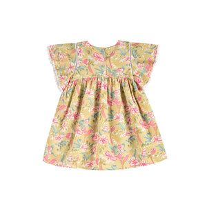 Louise Misha - Christina Soft Honey Parrots Dress | Dresses & Skirts | Bon Bon Tresor