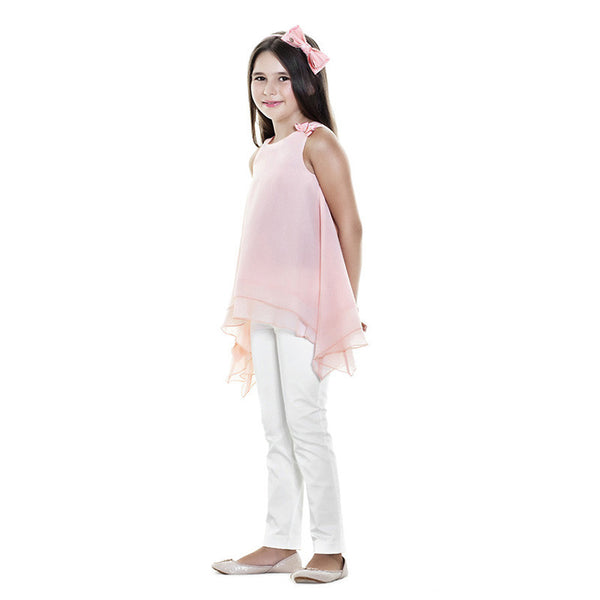 Lialea - Girls Pink Blouse and Trouser Set - Bon Bon Tresor - 1