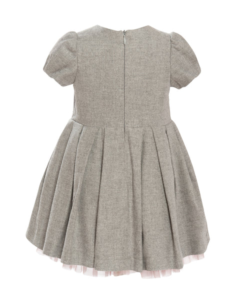 Balloon Chic - Girls Grey Party Dress - Bon Bon Tresor - 2