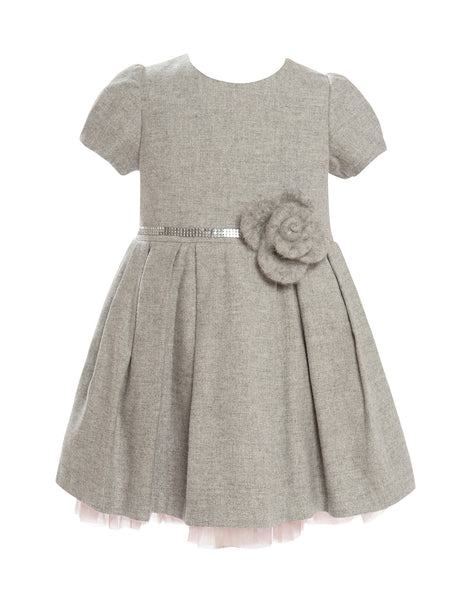 Balloon Chic - Girls Grey Party Dress - Bon Bon Tresor - 1