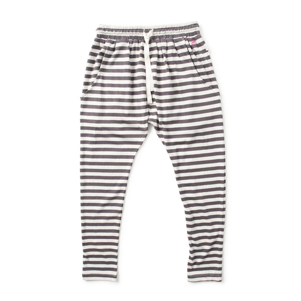 Missie Munster - Girls Stripey Vintage Black Pants - Bon Bon Tresor - 1