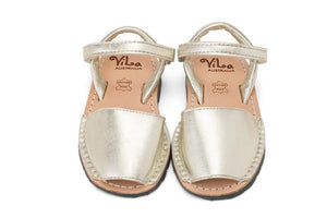 Vila Australia - Girls Metallic Gold Leather Sandal | Dress Shoes | Bon Bon Tresor