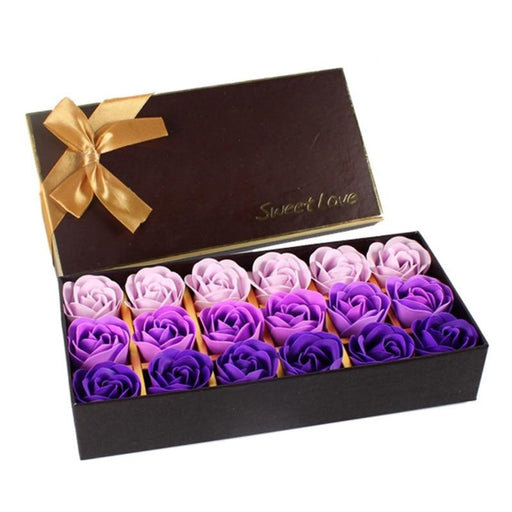 18Pcs Simulation Rose Soap Flower with Gift Box Valentine's Day Birthday Wedding Gifts Women Girl Bath Facial Soap Flower