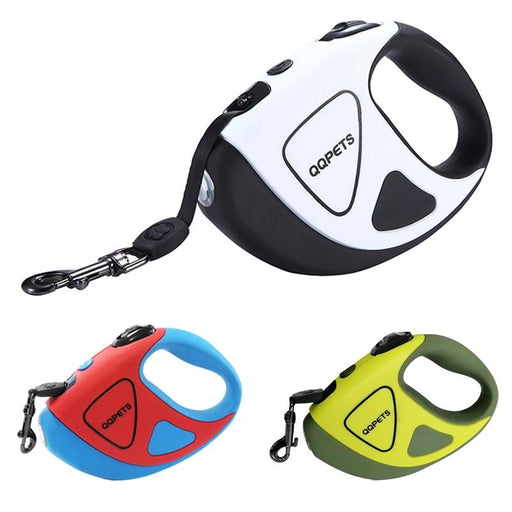 No Battery LED Pet Dog Retractable Leash for Small Large Dogs Automatic Puppy Big Dog Lead Walking Pitbull Bull Terrier Pet Belt
