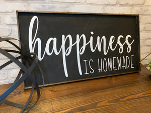 Happiness Is Homemade | Wooden Sign