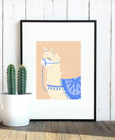 Adorable Custom Designed Llama Wall Art