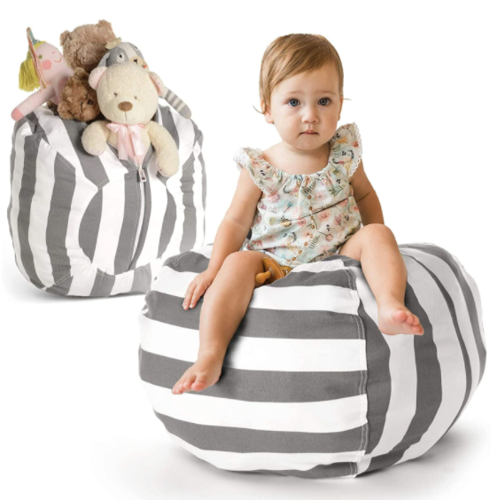 KTB Stuffed Animal Storage Bean Bag Chair Cover