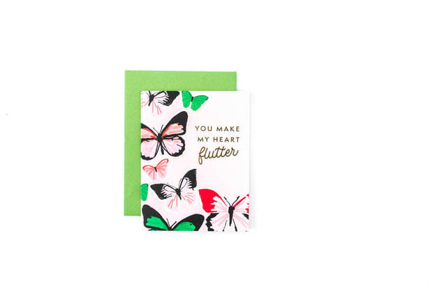 Make My Heart Flutter Greeting Card