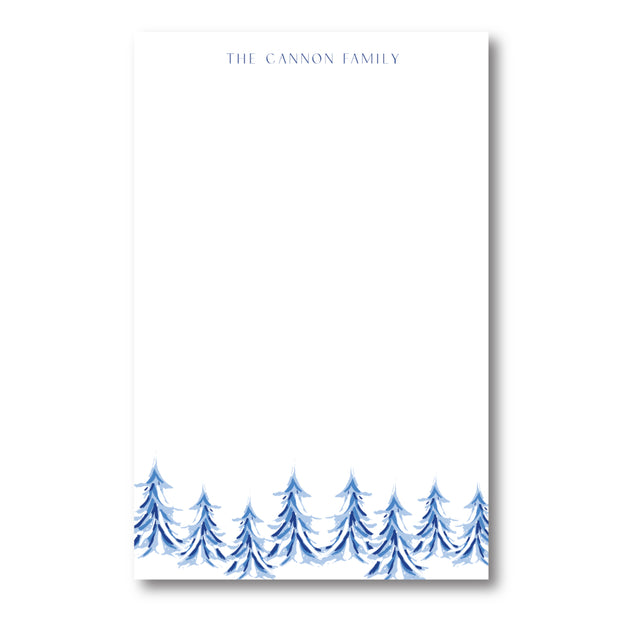 Blue Christmas Trees Notepad