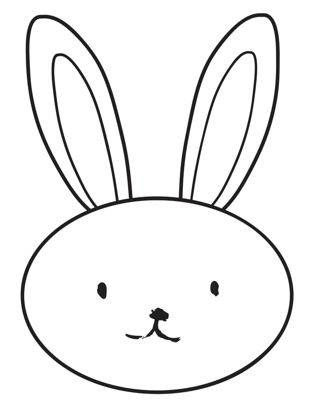Bunny Coloring Sheet
