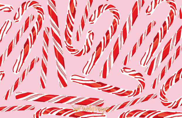 Candy Cane - Landscape Christmas Card