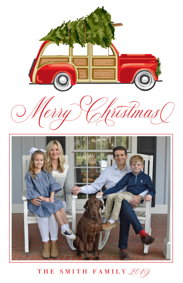 Christmas Car Christmas Card