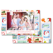 Christmas Stamps - Landscape Christmas Card