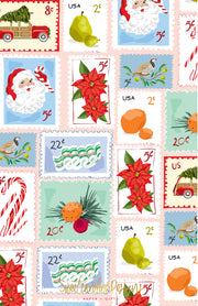 Christmas Stamps - Portrait Christmas Card
