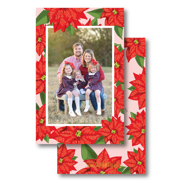 Poinsettia - Portrait Christmas Card