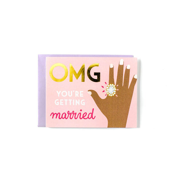 OMG - Pink Greeting Card