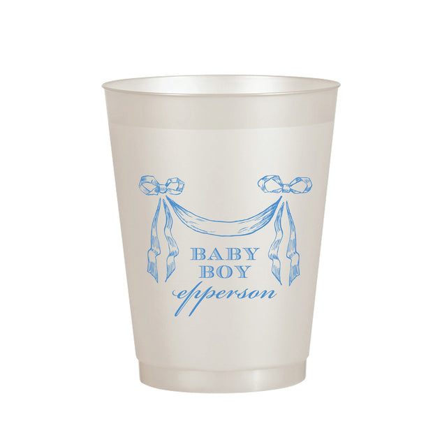 Boy Ribbon Banner Cup