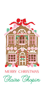 Gingerbread House Gift Tag