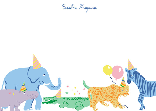 Animal Party Stationery