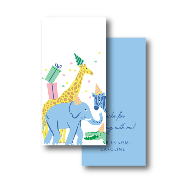 Animal Party Gift Tag