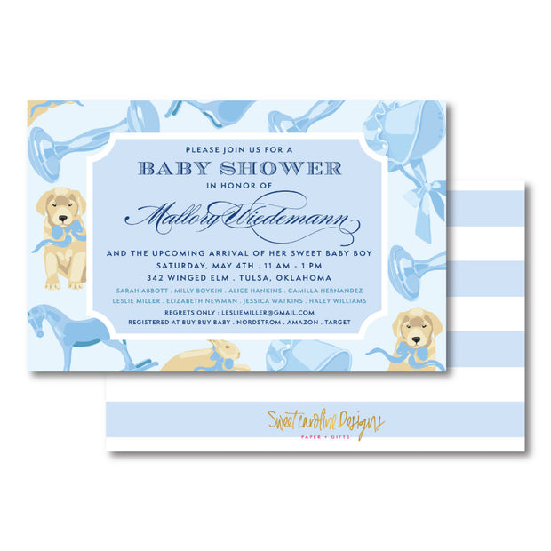 Baby Boy Fun Invitation