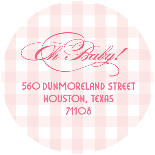 Baby Girl Stork Return Sticker