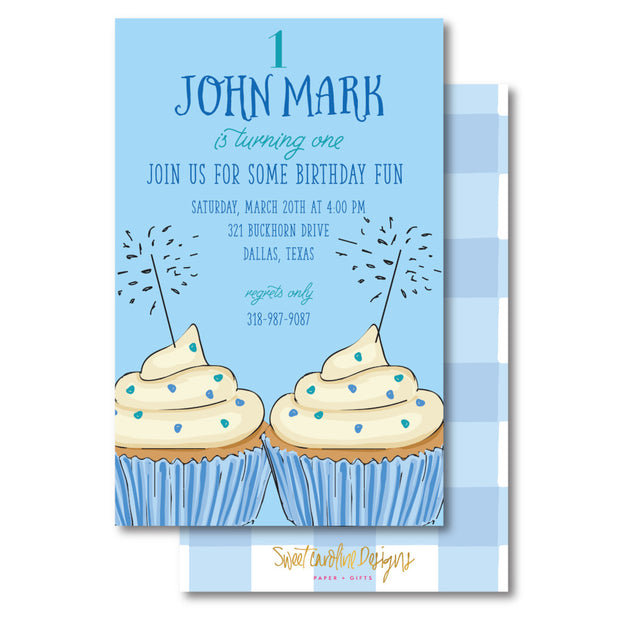 Birthday Fun - Blue Invitation
