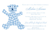 Blue Bear Invitation