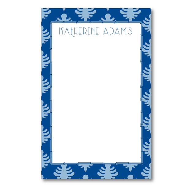 Blue Block Print Notepad