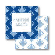 Blue Block Print Calling Card