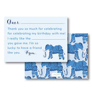 Blue Elephant Fill in the Blank Stationery