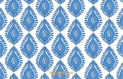 Blue Paisley Stationery