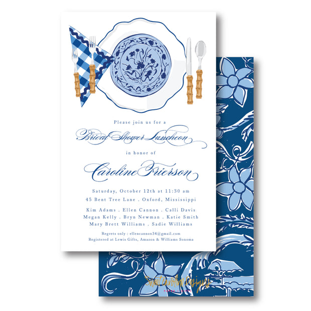 Blue Plates Invitation