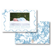 Blue Ribbon Birth Announcement