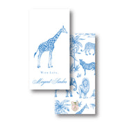 Blue Safari Toile Gift Tag