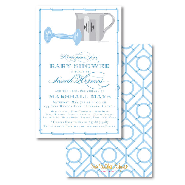 Blue Silver Cup Invitation