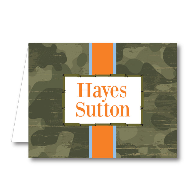 Camo Folded Notecard