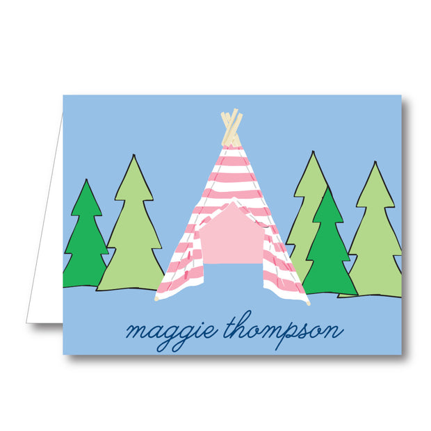 Camp Girl Folded Notecard