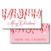 Candy Cane - Horizontal Gift Tag