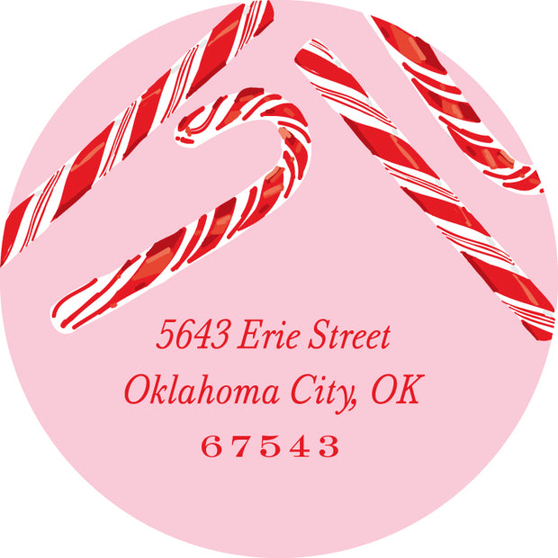 Candy Cane Return Sticker