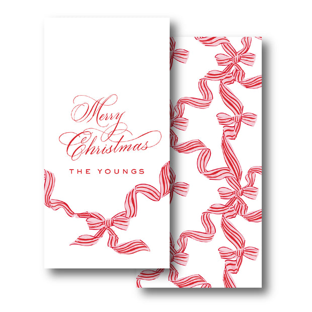 Candy Cane Trellis Gift Tag